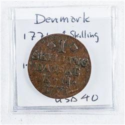 DENMARK 1771 1 Skilling VF - KM 616.1