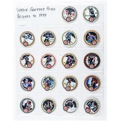 WAYNE GRETZKY - POG Collection 18 Pogs -  Records to 1994