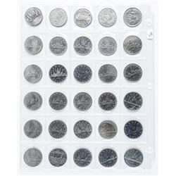 Lot (30) Canada Nickel Dollars. Mixed.