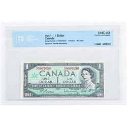 Bank of Canada 1967 1.00 B/R UNC 63. CCCS