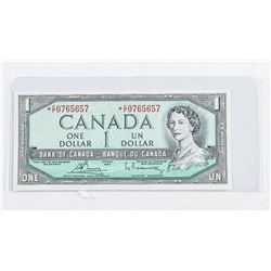 Bank of Canada 1954 Modified Portrait 1.00  Note * Replacement (CF) UNC