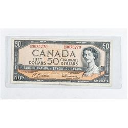 Bank of Canada 1954 50.00 Note B/R