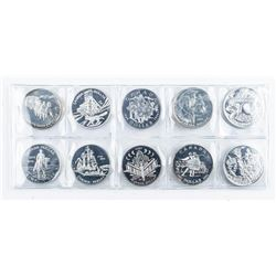 Group (10) 925 Sterling Silver Dollar Coins -  7.5+oz
