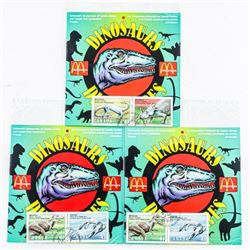 Lot (3) McDonald's and Canada Post Present  Dinosaurs, 4 Stamps