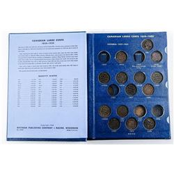 Estate Canada Large Cent Collection Whitman  Book (29 Coins)