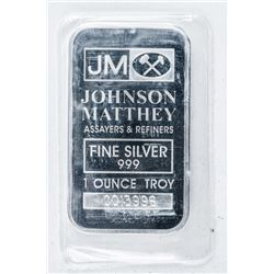 SCARCE JM Collector .999 Fine Silver Bar -  1oz ASW. No Longer Produced, Serialized