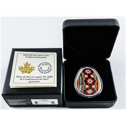2020 .999 Fine Silver $20.00 Coin  'Traditional Pysanka' SOLD OUT. Low Mintage  (MXR)