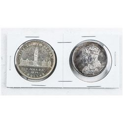 Canada 1939 Silver Dollar and Medal First  Royal Visit Canada