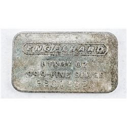 RARE - Old Style .999 Fine Silver Engelhard  Bar - Serialized, Very Collectible.