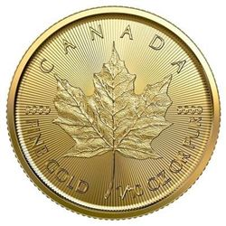 Royal Canadian Mint $5 .9999 Fine Gold Maple  - Very Collectible.
