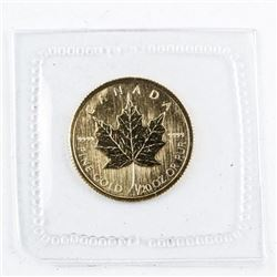 24kt Pure Gold, Maple Leaf $1.00 Coin. Royal  Canadian Mint. Very Collectible.