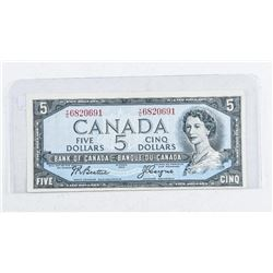 Bank of Canada 1954 5.00 (VF) B/C