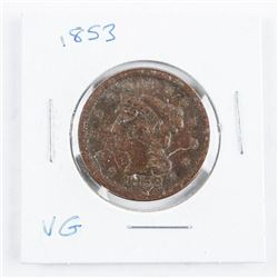 1853 USA Large Cent VG