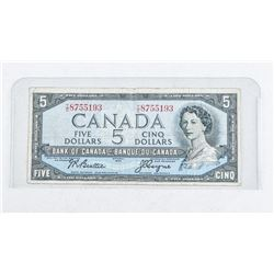 Bank of Canada 1954 5.00 (VG) B/C