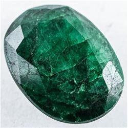925 Silver Earrings 14.16ct Oval Cut Emerald.  TRRV: $4250.00