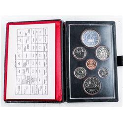 RCM Prestige Specimen Coin Set , Leather Case  1978