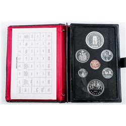 RCM Prestige Specimen Coin Set , Leather Case  1977