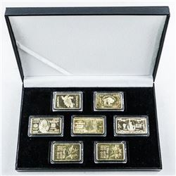 Group of (7) Gold Plated 1oz Bars, Mix of  Novelty Collectibles
