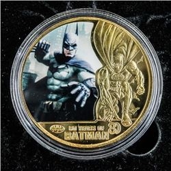BATMAN Gold Plated Medallion