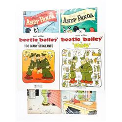Group (6) Comics - 4x Beetle Bailey and 2x  Andy Panda