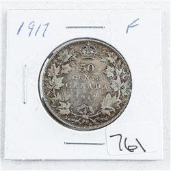Canada 1917 Silver 50 Cent F