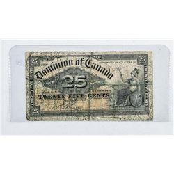 Dominion of Canada 25 Cent Note - Boville  1900 (EF)