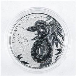 .999 Fine Silver $20.00 Coin 'Snake'