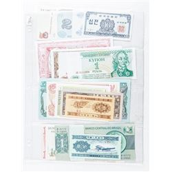 Group of (20) World Notes 20 Different  Countries