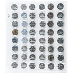 Group of (48) Canada 5 Cents