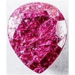 Loose Gemstone (8.84ct) Pear Cut Ruby  Appraised: $2650.00