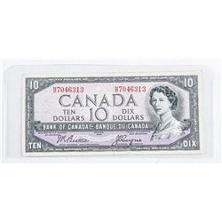 Bank of Canada 1954 10.00. Modified Portrait,  B/C