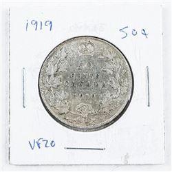 1919 Canada Silver 50 cent VF20