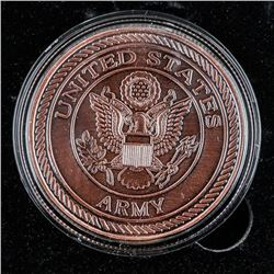 USA Army and Harley Bike Medallion Bronze  Finish