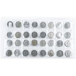 Group (32) US Nickels
