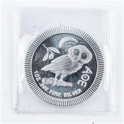 .9999 Fine Silver Athenian Owl Stacking 2.00  Coin