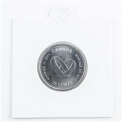 Canada 2010 Special Issue 25 cent, Heart