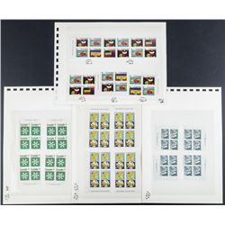 Group of (4) Pages Canada Blocks Stamps