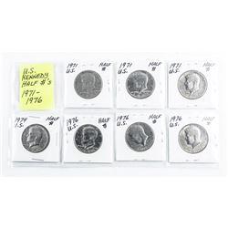 Group of (7) Kennedy Half Dollars