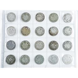 CANADA - 20 Coin Collection Early 1900's 10  Cents