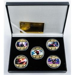 Ironman 5 Medallion Collection, Gold Plated  with Colour