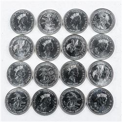Lot (16) CAnada 25 Cent 125th Anniversary  1992 N.W.T. UNC