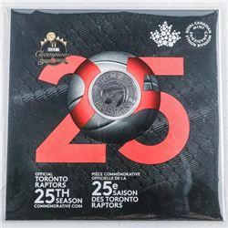 RCM Toronto Raptors 25th Season Commemorative  Coin Gift folio