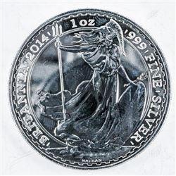 .9999 Fine Silver 2 Pound Coin 'Britannia'  1oz