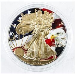 2017 USA Eagle Dollar Gold Plated and  Coloured .999 Fine Silver 1oz