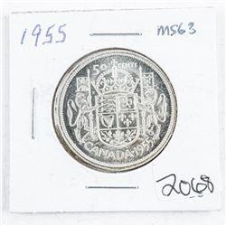 1955 Canada Silver 50 cent MS63