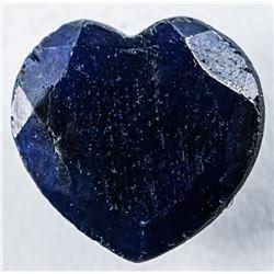 Loose Gemstone (7.09ct) Heart Cut Blue  Sapphire. TRRV: $2130.00