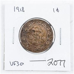 Canada 1918 Large Cent VF30