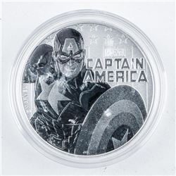 .9999 Fine Silver $1.00 Marvel, Capt. America