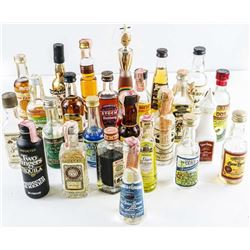Lot (25) Mini Bar Bottles Full, Collector  Brands.