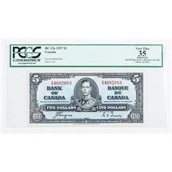 Bank of Canada 1937 5.00 VF35. PCGS Cert